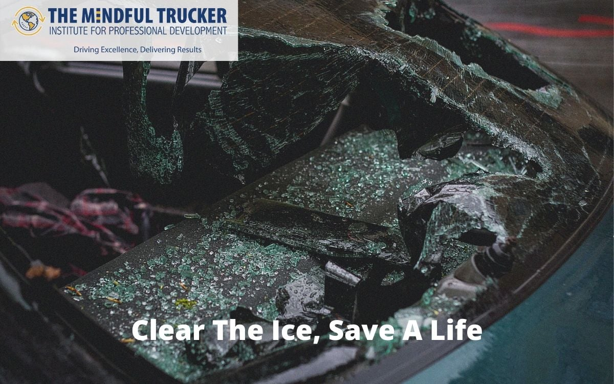 clear the ice, save a life, clear vision, clearing ice off vehicles,